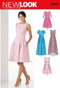 6341 New Look Pattern: Ladies' Day or Special Occasion Dress with Sleeve Variations